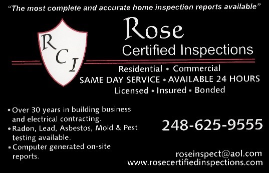 Rose Certified Inspections